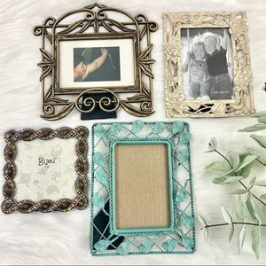 Mixed Lot of Picture Frames 3- 3.5x5 / 1-4x4 EUC